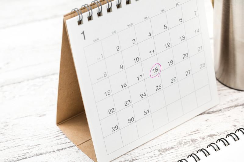 カレンダー予定表